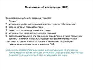 Предмет лицензионного договора об использовании произведения