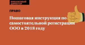 Самостоятельная регистрация ООО в 2018 году: пошаговая инструкция