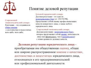 Деловая репутация юридического лица