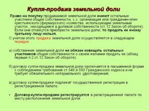 земельный кодекс общедолевая собственность