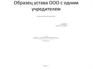 Полезный образец:  устав ООО