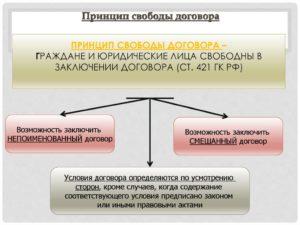 Условия договора и принцип свободы договора