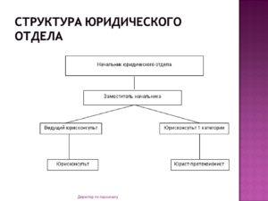 Структура юридического департамента крупной компании