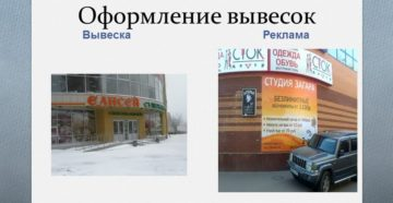 Информационная вывеска компании: реклама или нет
