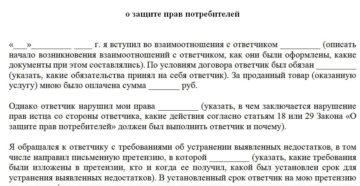 Исковое заявление о защите прав потребителей: советы по составлению
