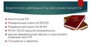 ФЗ 44-ФЗ, ФЗ 223-ФЗ: законодательство о закупках