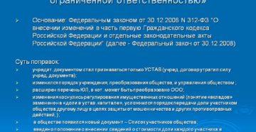 Изменения в законе об ООО и в законе о регистрации юрлиц с 1 января 2016 года